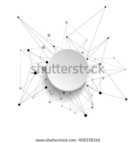 Abstract vector background. Connected lines and dots. Futuristic background. Vector design element. - stock vector