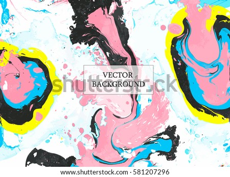 Abstract vector background. Ebru art. Marble texture