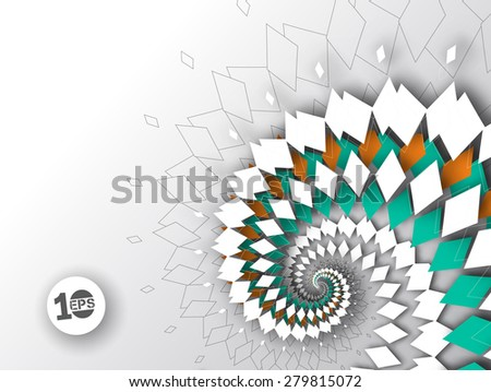 Abstract Vector Background, eps10 illustration - stock vector
