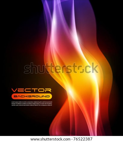 Abstract Vector Background flame - gradient mesh - stock vector