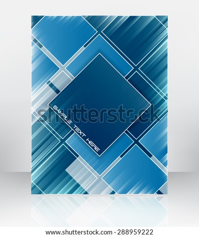 Abstract vector background for flyer, brochure or cover design. Can be used for print, publishing or working presentation. - stock vector