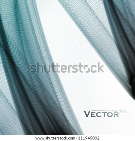 Abstract vector background, futuristic colorful wavy illustration eps10 - stock vector