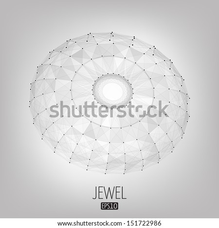 Abstract vector background. Futuristic style card. Elegant background for business presentations. Lines, point, planes in 3d space. Jewel, gem. - stock vector