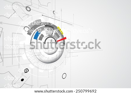 Abstract vector background. Futuristic technology style. Elegant background for business tech presentations. - stock vector