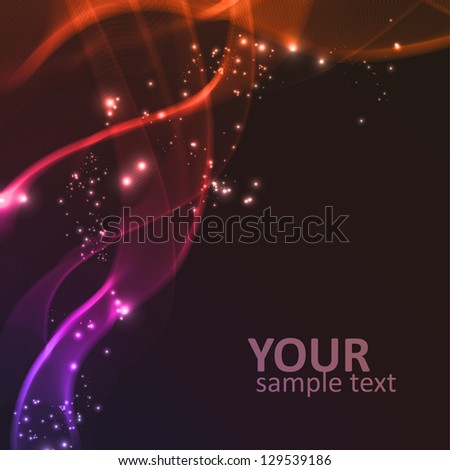 Abstract vector background, futuristic wavy lines illustration, bright elements - editables eps10. - stock vector