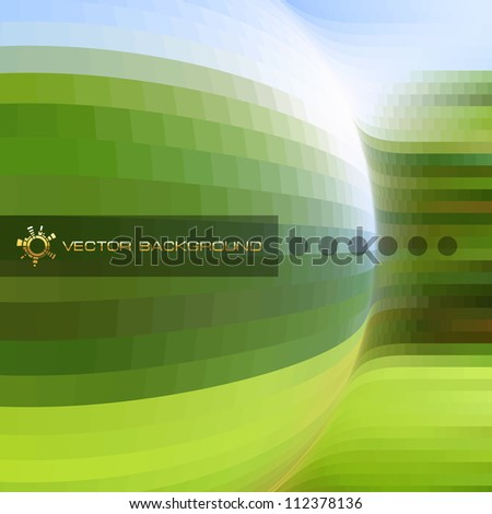 Abstract vector background. Green design template. Brochure cover template. Ecology illustration. - stock vector