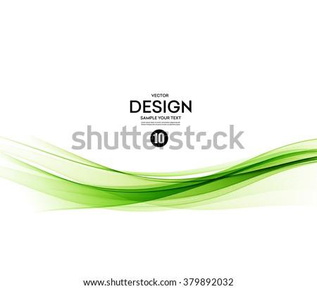 Abstract vector background, green waved lines for brochure, website, flyer design.  illustration eps10 - stock vector