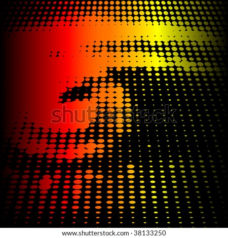 Abstract vector background illustration of a halftone