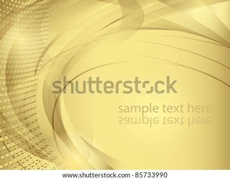 Abstract vector background in golden tones