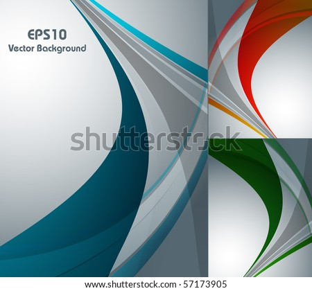 abstract vector background in three colors. Eps10 - stock vector