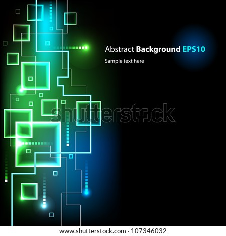 Abstract vector background isolated on black