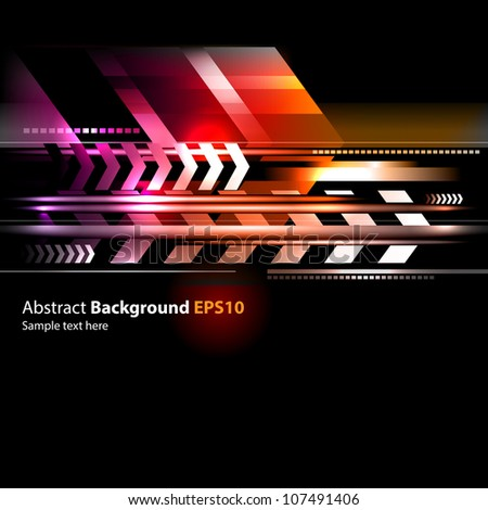 Abstract vector background isolated on black - stock vector