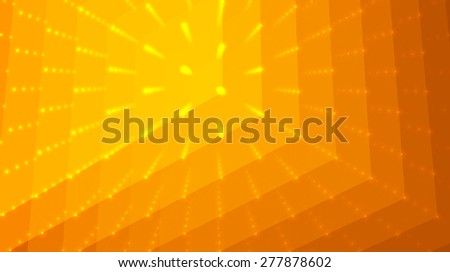 Abstract vector background. Matrix of points and polygons with illusion of depth and perspective. Abstract futuristic space background.