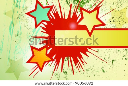 Abstract vector  background of explosion star.