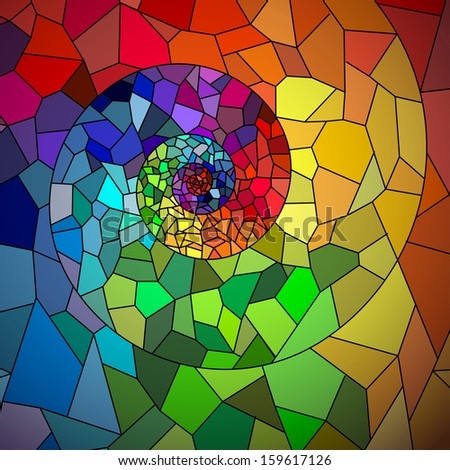 Abstract Vector Background of Mosaic Spiral - stock vector