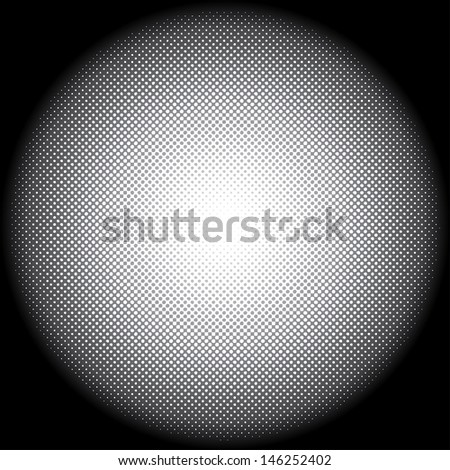 Abstract vector background of radial dots formation. - stock vector