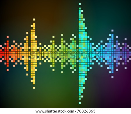 abstract vector background of rainbow colored mosaic. EPS 10.