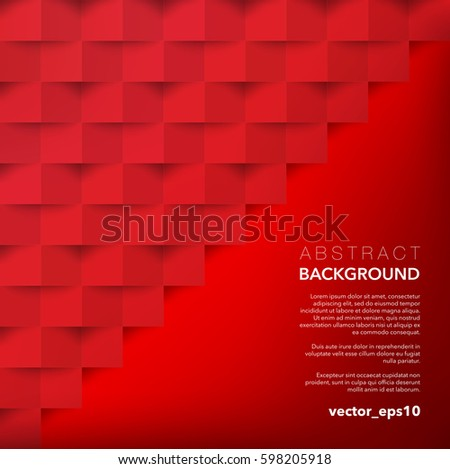 Red geometric background use for wallpaper template brochure design