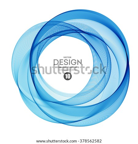 Abstract vector background, round futuristic wavy illustration eps10 - stock vector