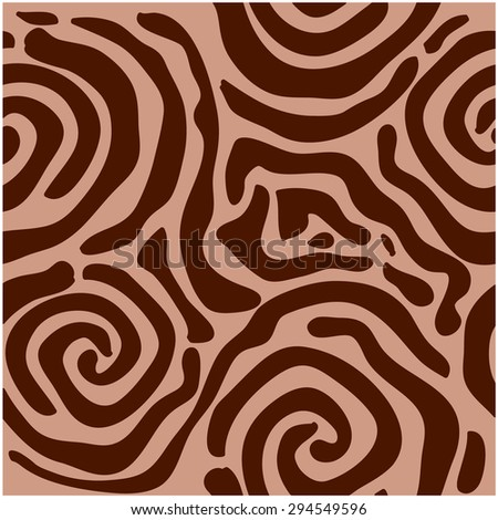 Abstract vector background. Safari art deco collection. Unusual zebra seamless pattern. African roses. Brown. Backgrounds & textures shop. - stock vector