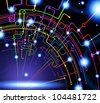 abstract vector background. Science and technology - stock vector