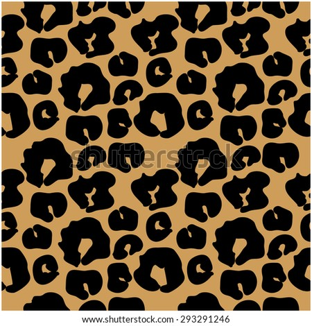 Abstract vector background. Seamless leopard pattern. Black on beige. Backgrounds & textures shop. - stock vector