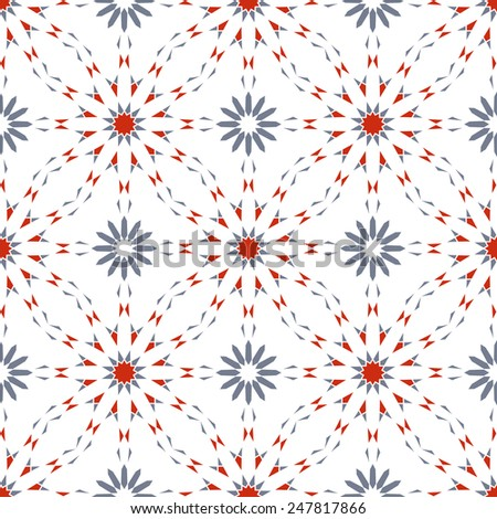Abstract vector background. Seamless pattern in gray and red tones - stock vector
