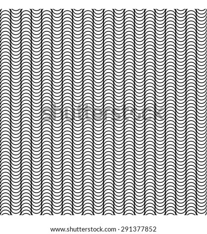 Abstract vector background. Seamless wavy pattern with stripes. Summer breeze. Black and white. Backgrounds & textures shop. - stock vector