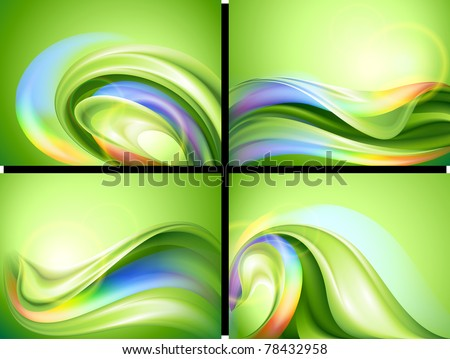 Abstract vector background set - stock vector