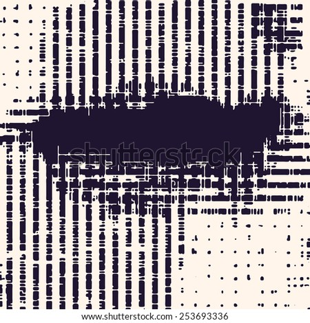 Abstract vector background. Squared monochrome composition of grunge irregular diffused elements.