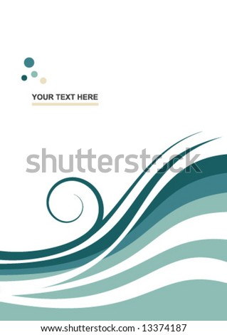abstract vector background wave - stock vector