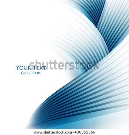 Abstract vector background, wavy lines for brochure, website, flyer design. Eps10 - stock vector