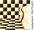 Abstract vector background with a Individual chess pawn - stock photo