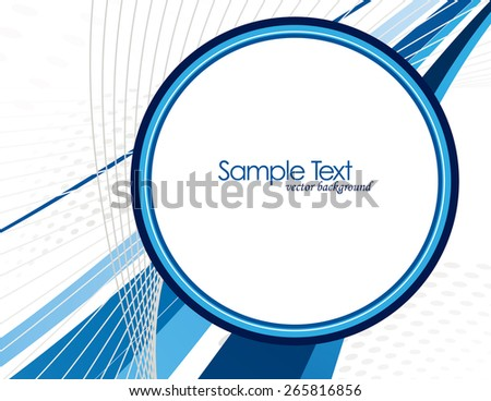 Abstract Vector Background with Blue Elements. - stock vector