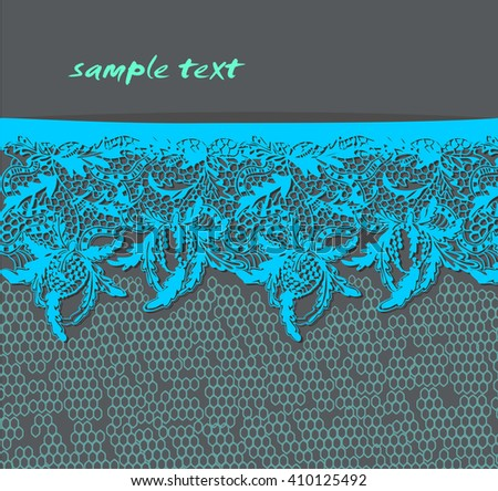 Abstract vector background with blue lace.