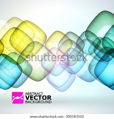 Abstract vector background with bubbles