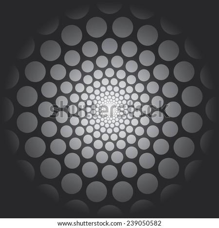 Abstract vector background with circles. - stock vector