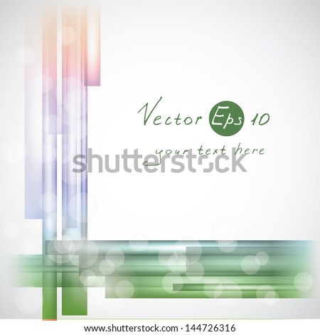 Abstract vector background with colored lines and waves