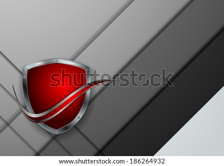abstract vector background with colorful shield. Eps10 design - stock vector