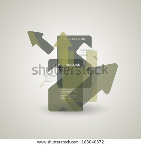 Abstract vector background with colorful  transparent arrows. - stock vector