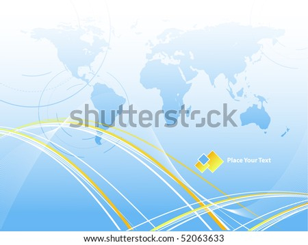 abstract vector background with copy space and map