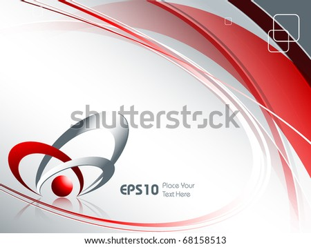 abstract vector background with copy space.Eps10 - stock vector