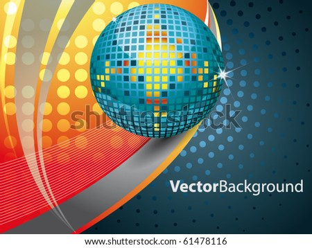 Abstract vector background with disco glitter - stock vector
