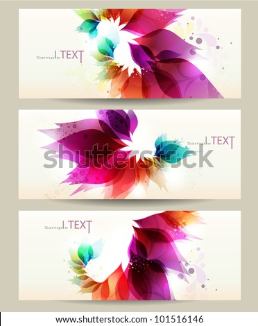 Abstract vector background with floral elements. Brochure template. - stock vector