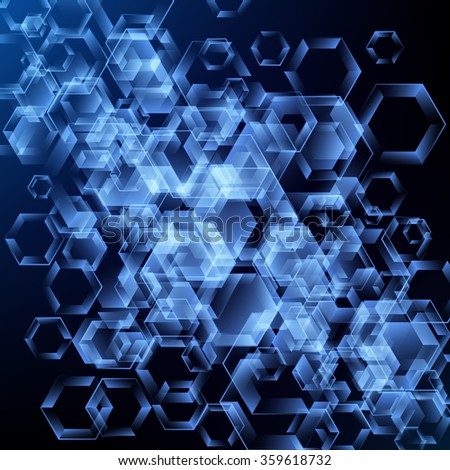 abstract vector background with hexagons. technology design
