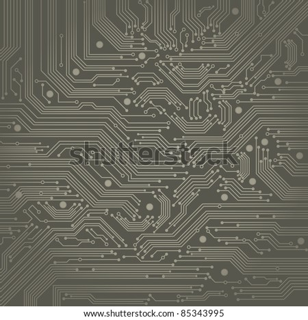 abstract vector background with high tech circuit board - stock vector