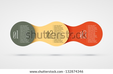 abstract vector background with infographic steps eps10 illustration - stock vector