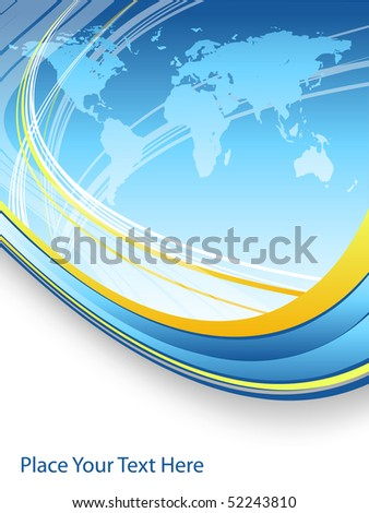 abstract vector background with map and copy space. Eps10