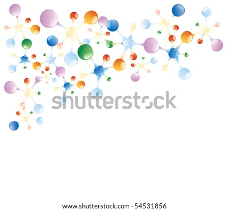 abstract vector background with molecules