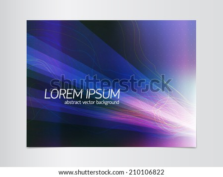 Abstract vector background with point grid, light beams, color curves and irradiated film effect. For high technology and business design projects.  - stock vector